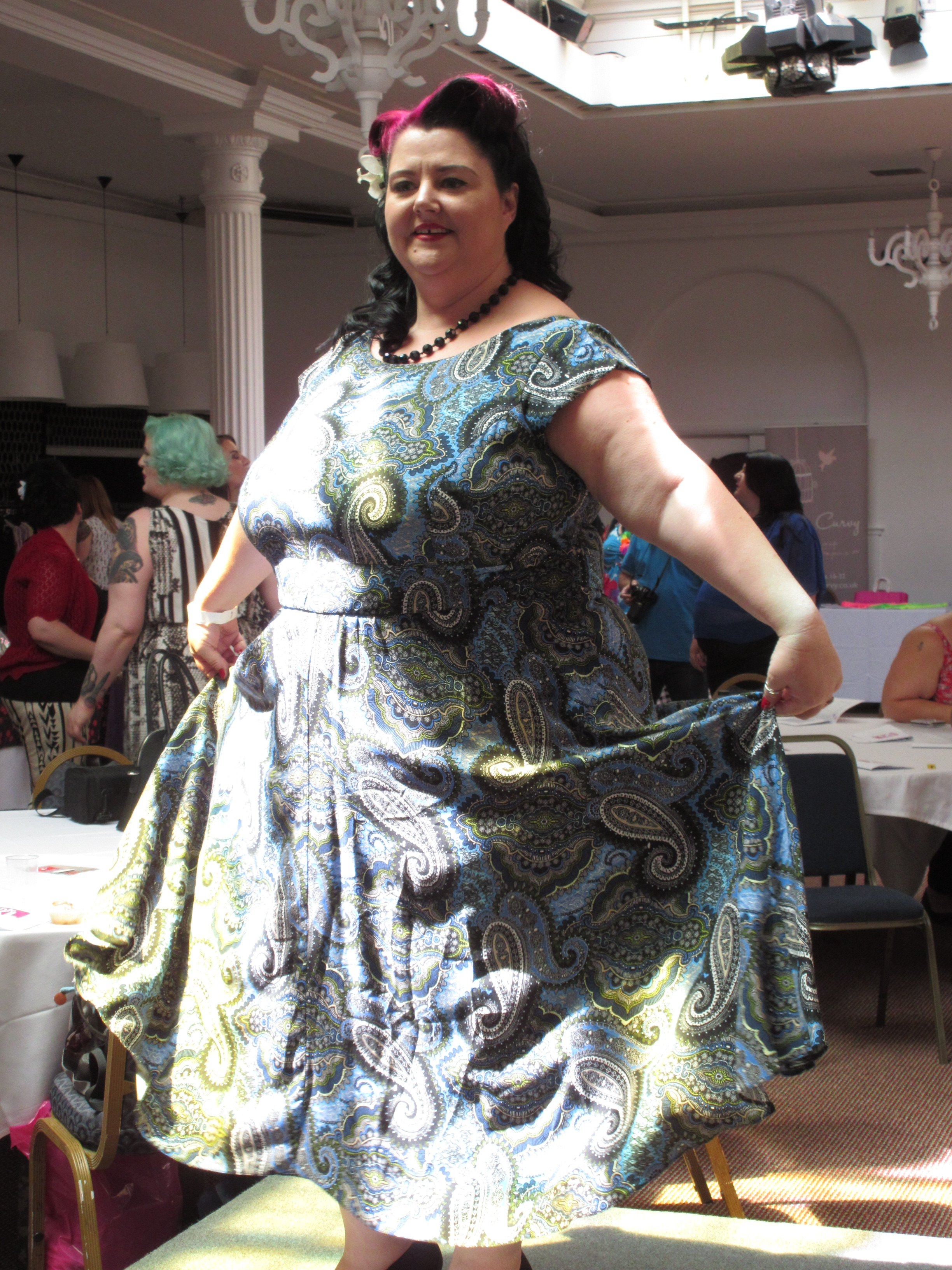 The amazing Tanya from www.secretplussizegoddess.com in Apples and Pears Clothing