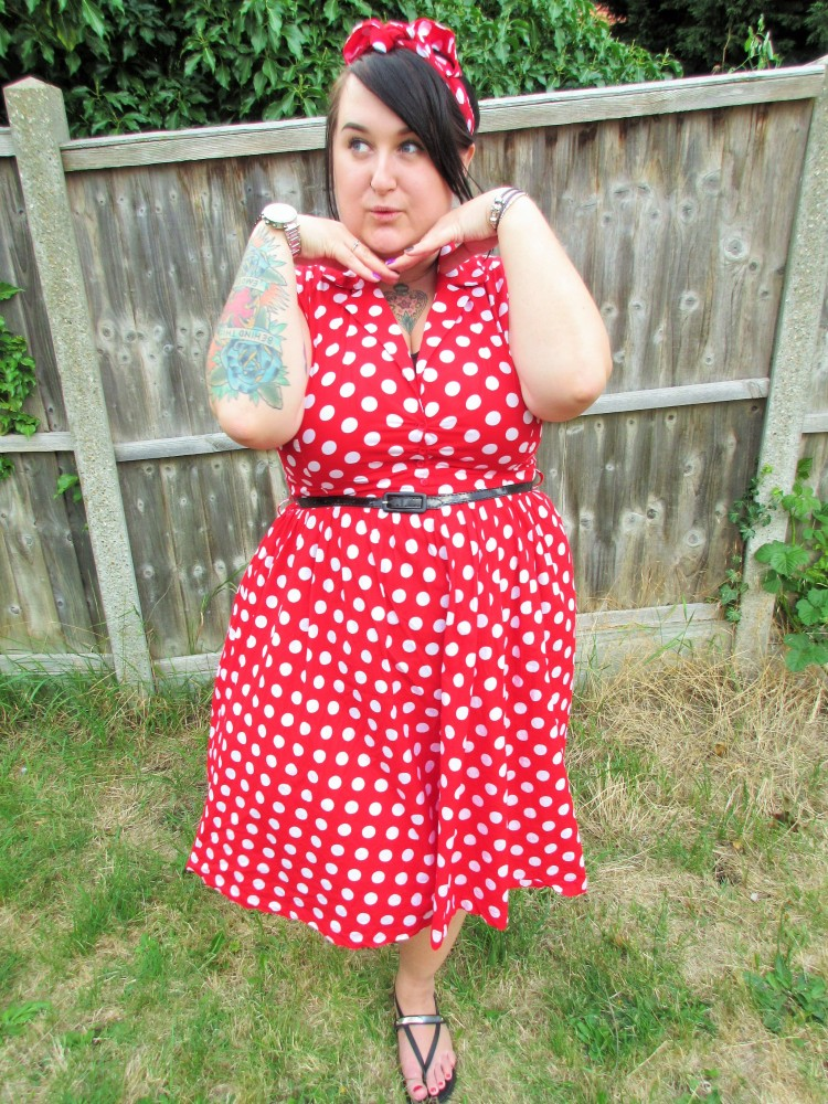 Lindy Bop Red Polka Dot Dress