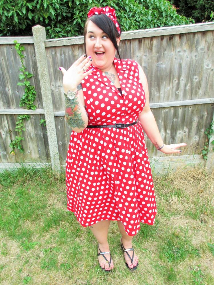 Plus Size Red Polka Dot Dress