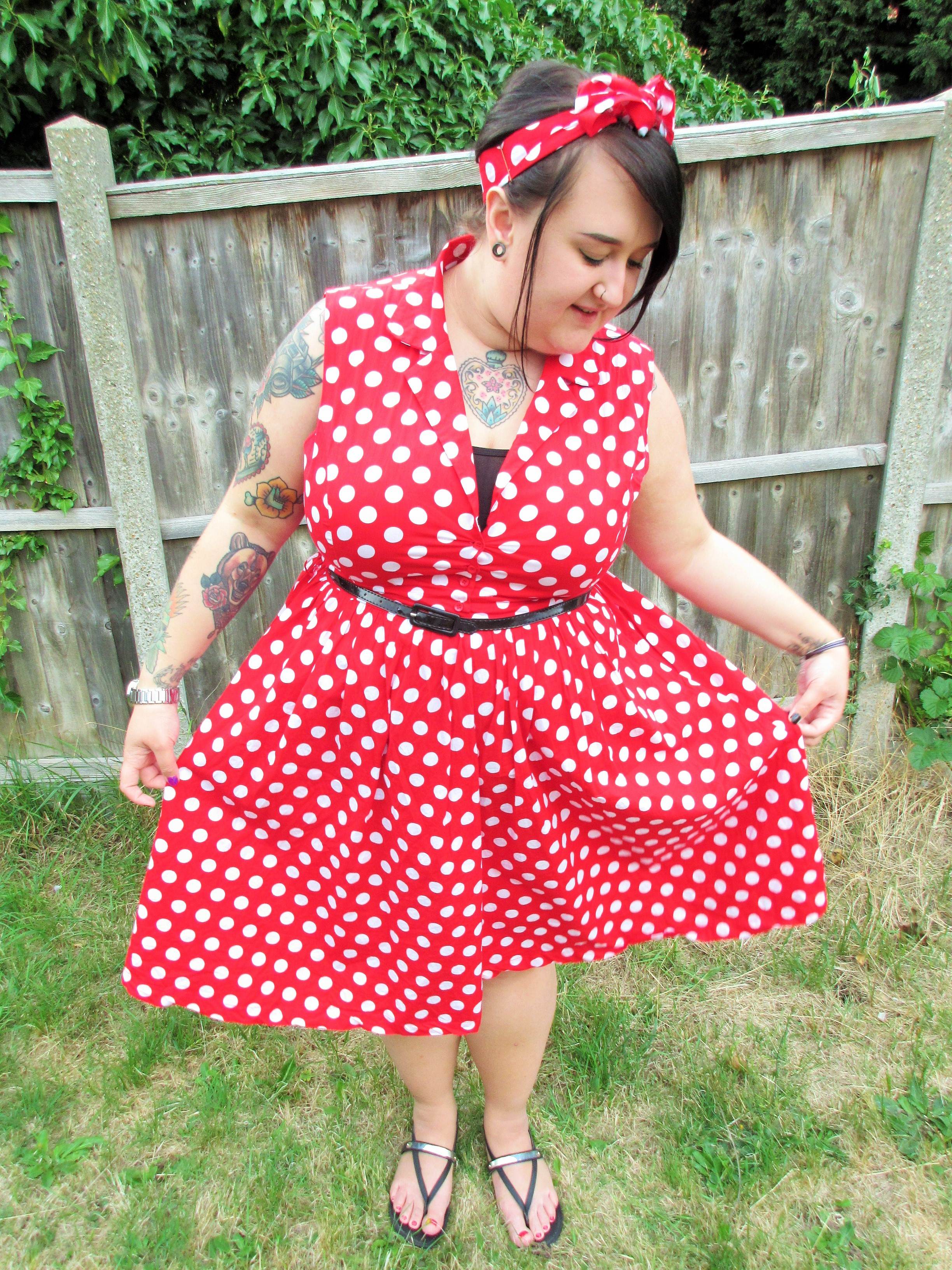 Lindy Bop Red Polka Dot Dress
