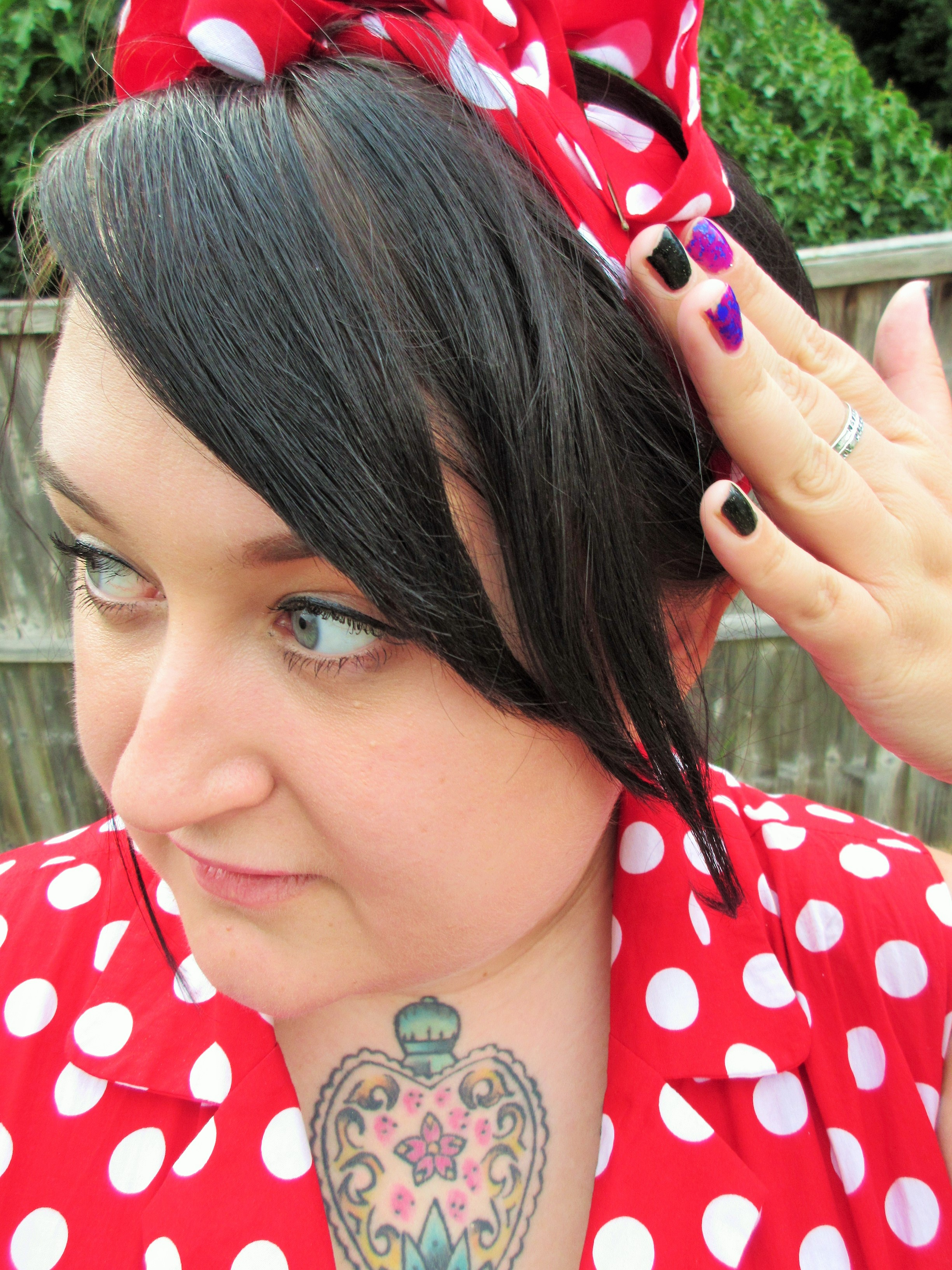 Red Polka Dot Head Scarf