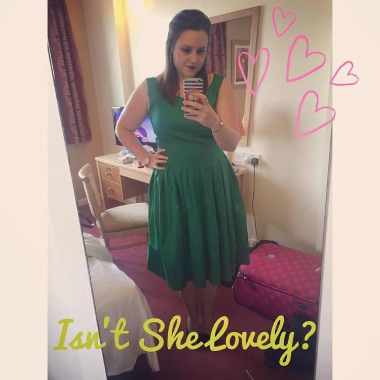 Lindy Bop Lana Green Dress