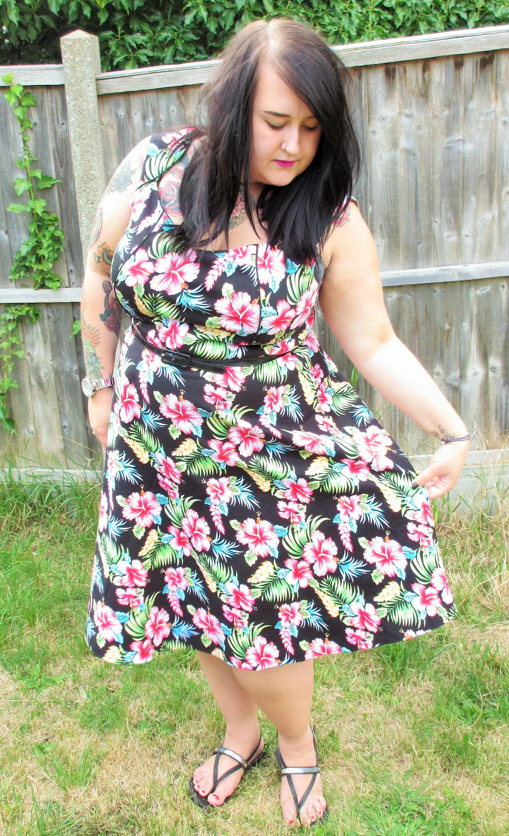Lindy Bop Dress Tropical Print