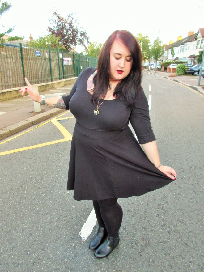 all black plus size witch new look