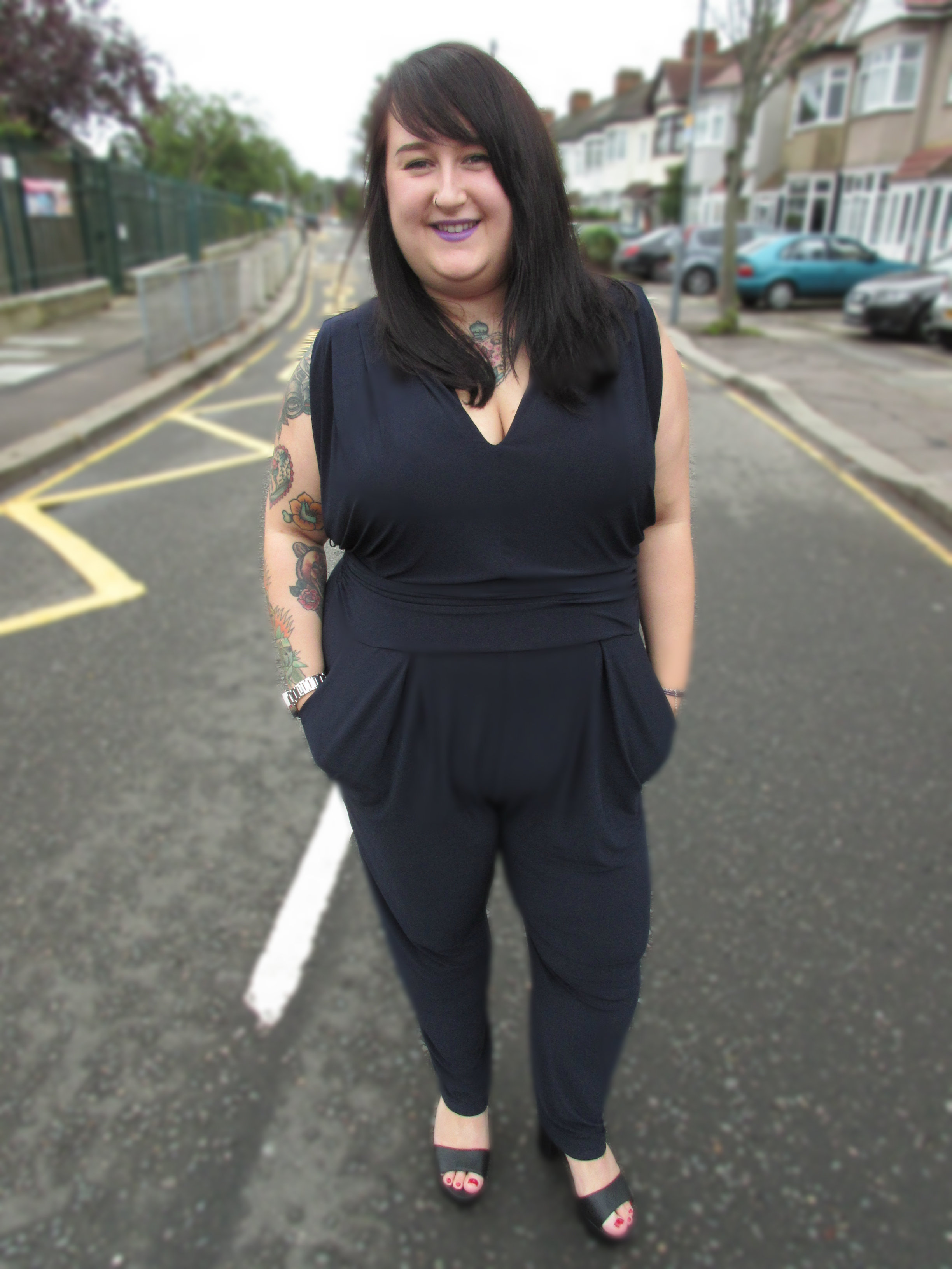 Plus Size Navy Jumpsuit Studio Eight