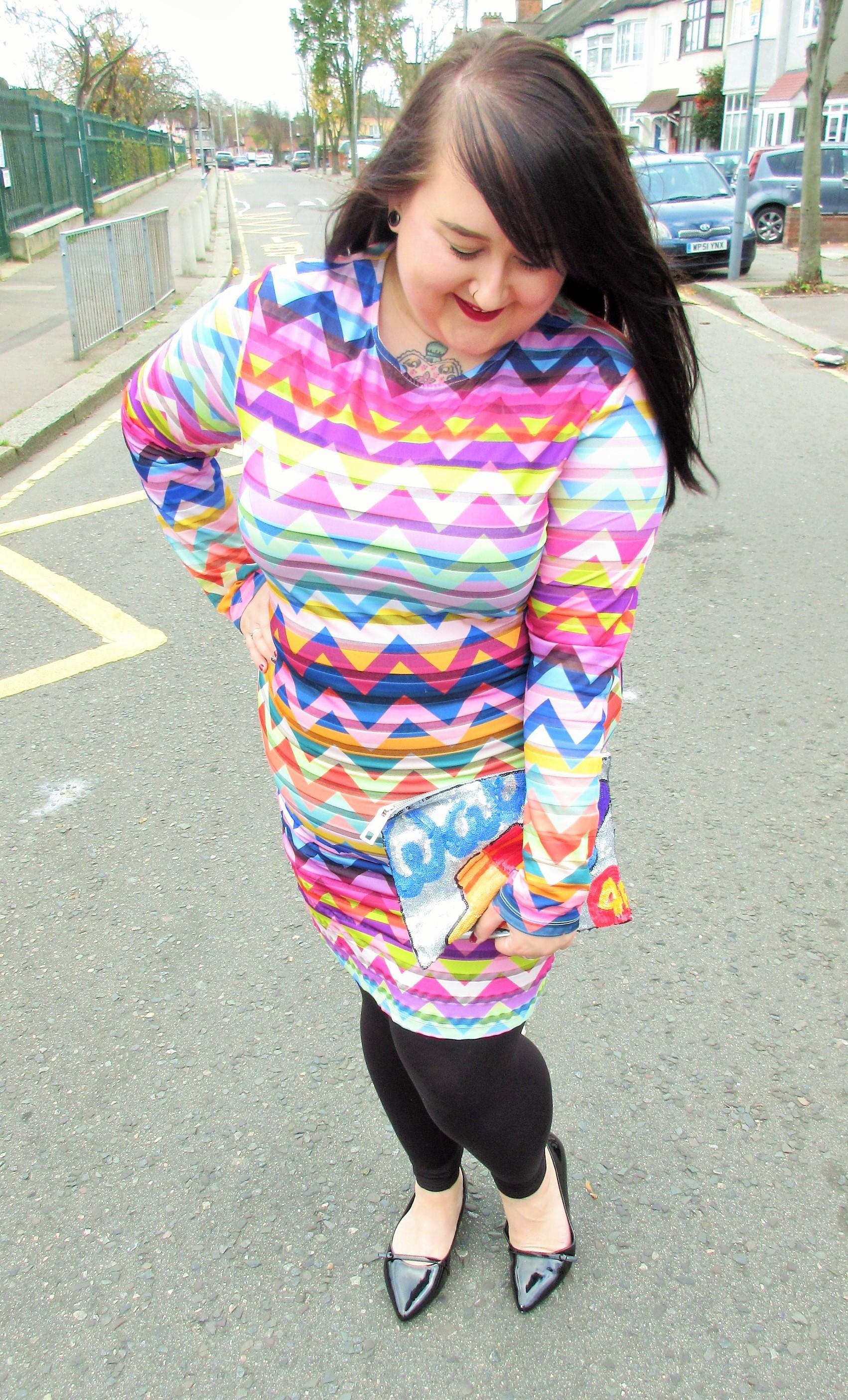 bright_dress_plus_size_asos_curve_festival _chevron_dress_lottie_lamour