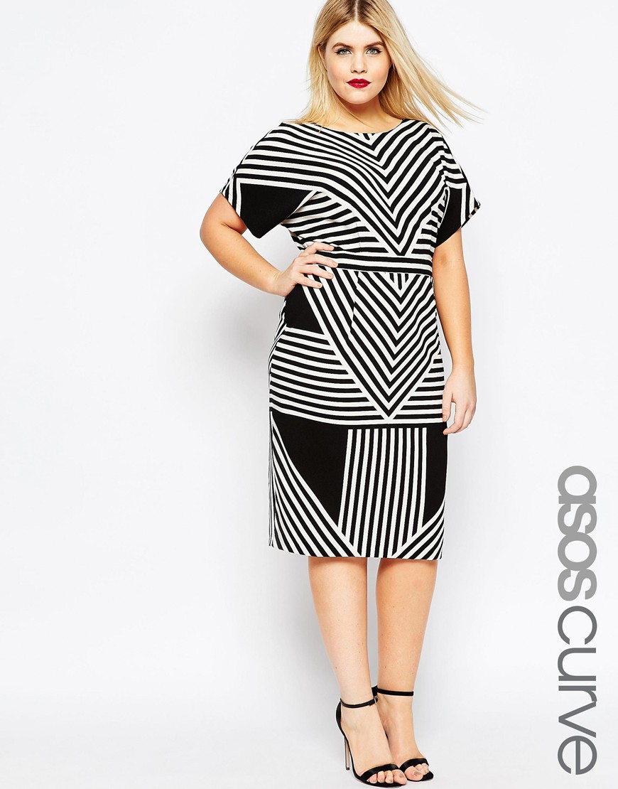 asos_curve_monochrome_wiggle_dress_plus_size_lottie_lamour