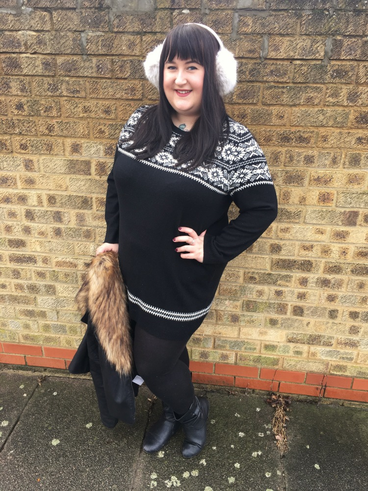 ankle_boots_jumper_dress_ear_muffs_plus_size_george_asda_lottie_lamour