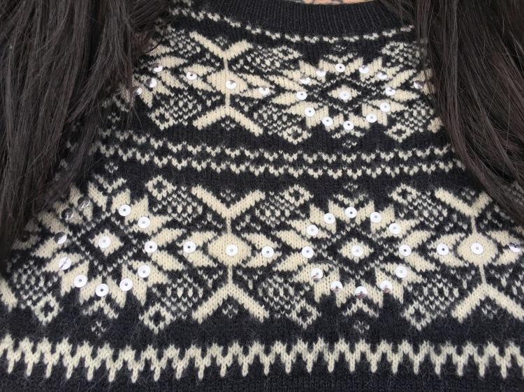 george_asda_jumper_dress_sequins_snowflake_lottie_lamour_plus_size