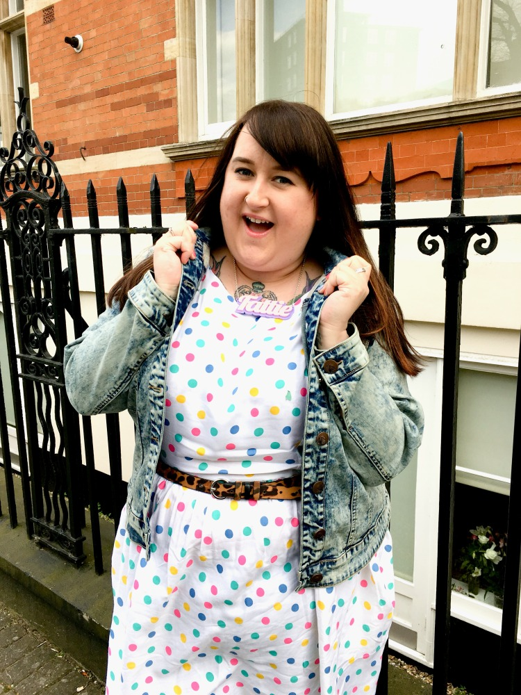lottie-lamour-simply-be-sprinkle-of-glitter-dress-zizzi-denim-jacket-plus-size-fashion-review
